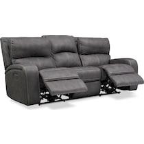 burke gray power reclining sofa
