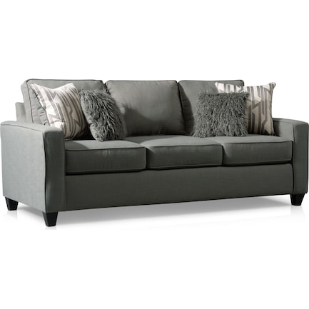 Burton Queen Foam Sleeper Sofa - Smoke