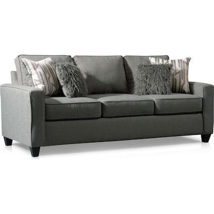 Burton Queen Memory Foam Sleeper Sofa - Smoke