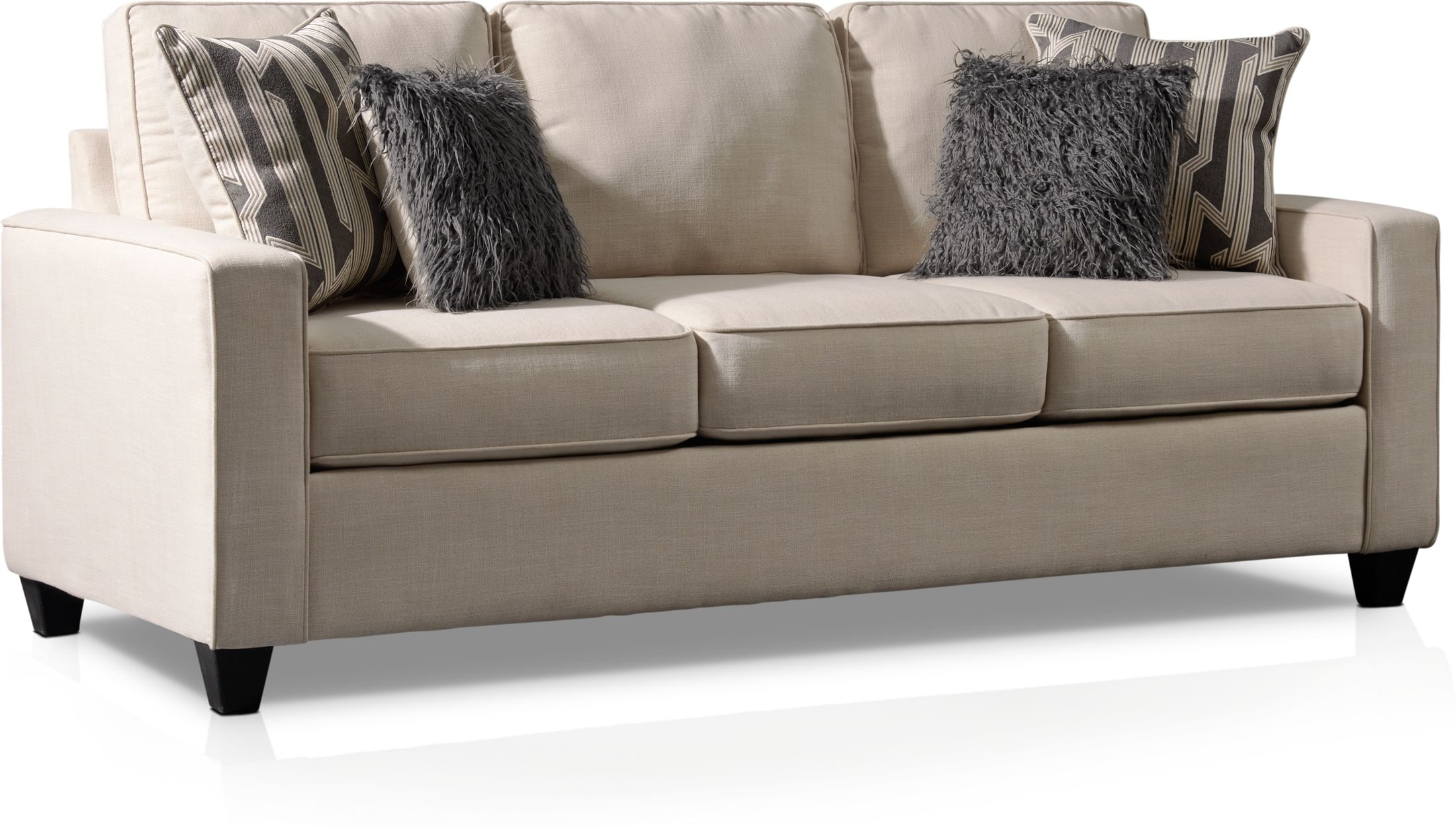 Living Room Furniture - Burton Queen Sleeper Sofa