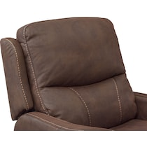 cabo dual power brown recliner