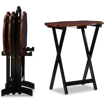 caine dark brown tray table