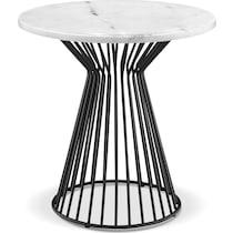 calimesa black white end table