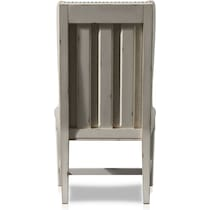 cambridge white upholstered dining chair