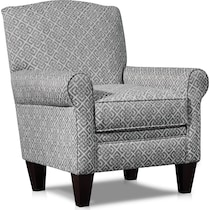 camila silver accent chair