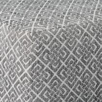 camila silver ottoman