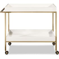 camilla white bar cart