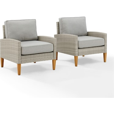 Capri Set of 2 Outdoor Chairs