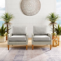 capri gray outdoor chair set