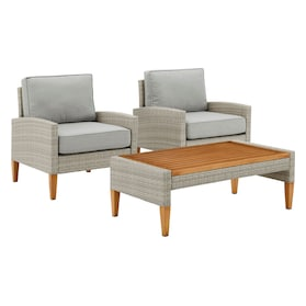 Capri Set of 2 Outdoor Chairs and Coffee Table