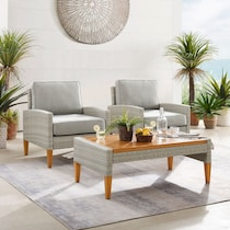 capri gray outdoor chair set