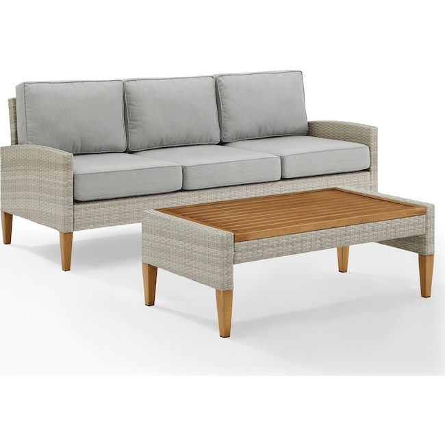 Outdoor Furniture - Capri Outdoor Sofa and Coffee Table Set
