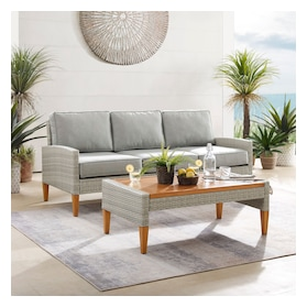 Capri Outdoor Sofa and Coffee Table Set