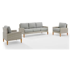 Capri Outdoor Sofa and Set of 2 Chairs