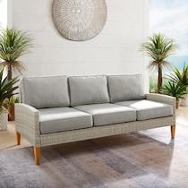 capri gray outdoor sofa