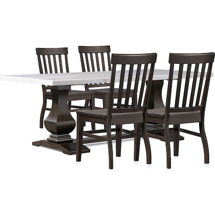 Carlisle Dining Table and 4 Dining Chairs