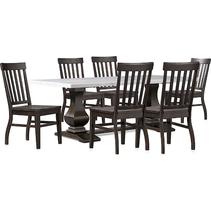 Carlisle Dining Table with 6 Dining Chairs