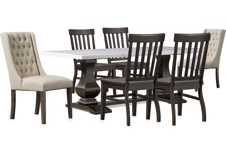 carlisle dark brown  pc dining room