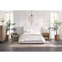carter white king upholstered bed