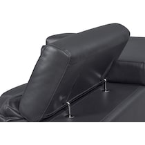 charcoal  pc sectional with left facing chaise