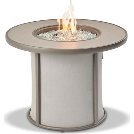 Chardon Gas Fire Table - Gray