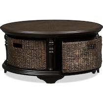 charleston black coffee table