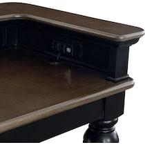 charleston black console table