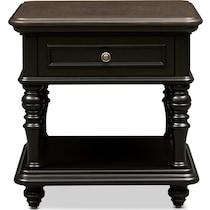 charleston black end table
