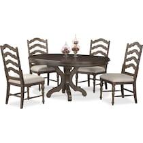 charleston gray  pc dining room