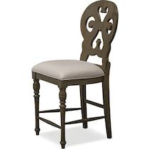 charleston gray counter height stool