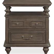 charleston gray nightstand