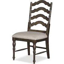 charleston gray side chair