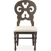 charleston gray side chair