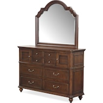 charleston tobacco dresser & mirror