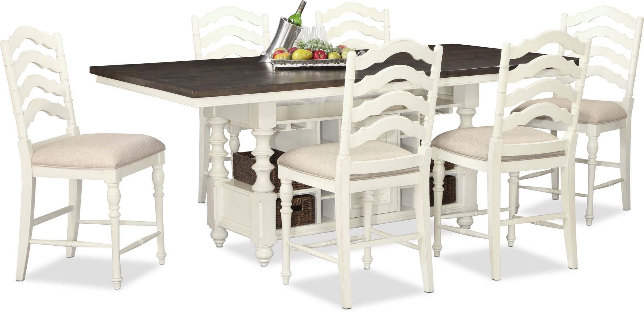 Charleston Kitchen Island And 6 Stools Value City Furniture