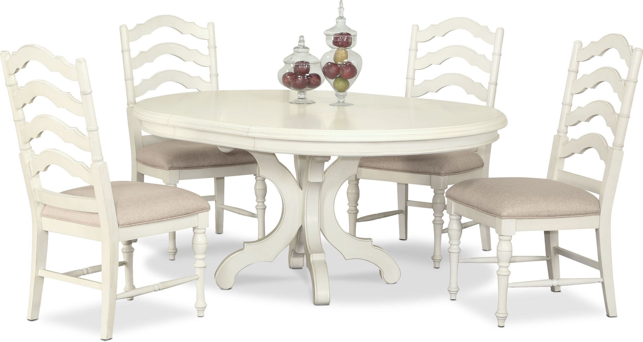 Charleston Round Dining Table and 9 Side Chairs