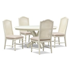 Charleston Round Dining Table and 4 Cane Back Dining Chairs