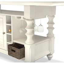 charleston white  pc counter height dining room