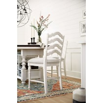 charleston white counter height stool
