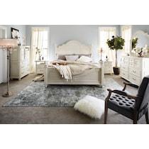 charleston white king bed