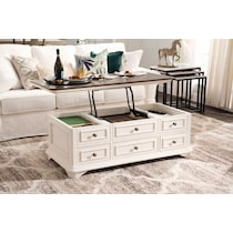 charleston white lift top coffee table