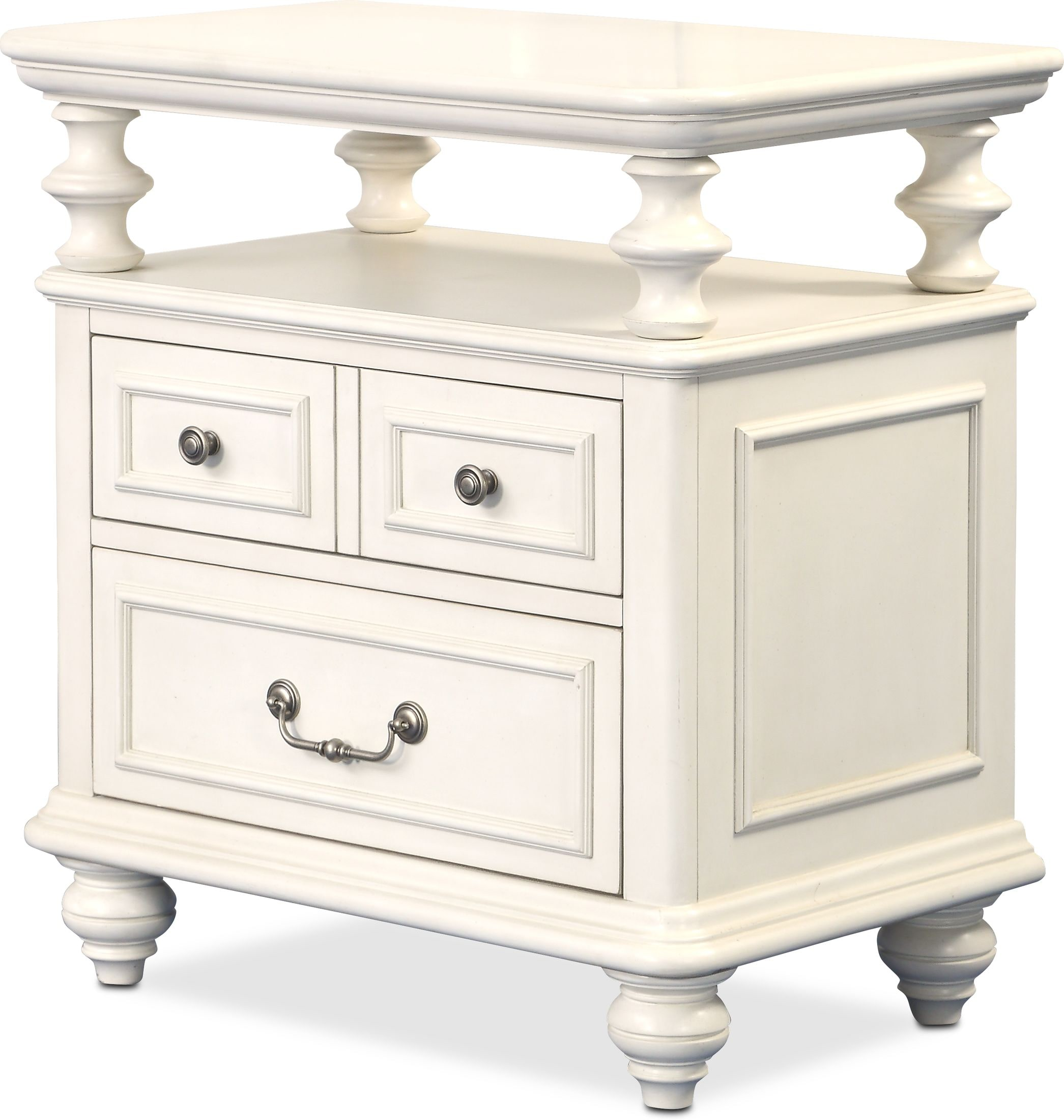 Bedroom Furniture - Charleston  Shelf Nightstand