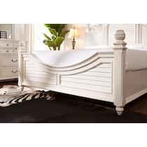 charleston white queen bed