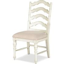 charleston white side chair
