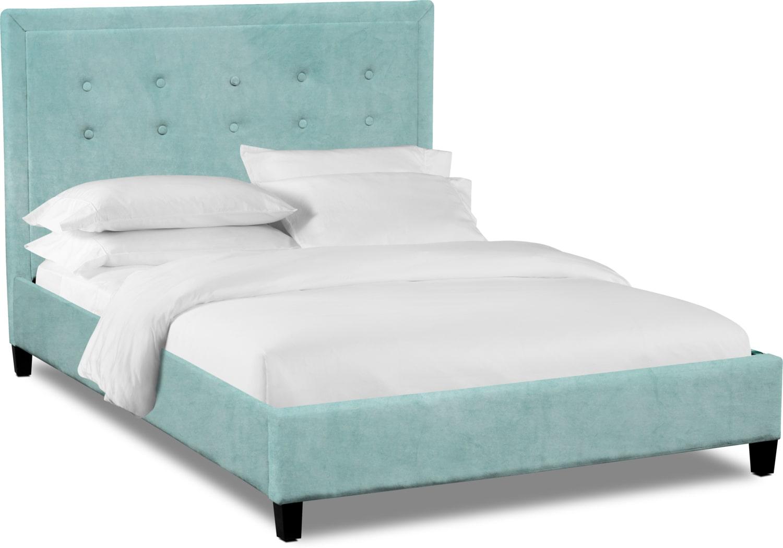 Bedroom Furniture - Charlie King Upholstered Bed - Skylight
