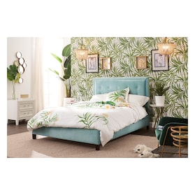 Charlie King Upholstered Bed - Skylight
