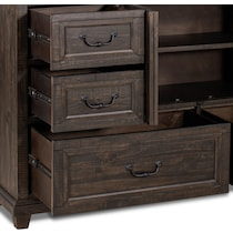 charthouse bedroom dark brown dresser & mirror