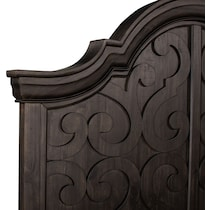 charthouse bedroom dark brown king panel bed