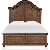 charthouse bedroom light brown queen panel bed