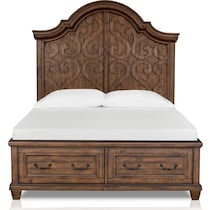 charthouse bedroom light brown queen storage bed